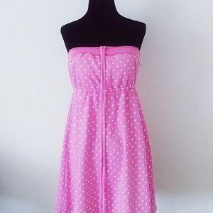 VS french terry polka dot dress